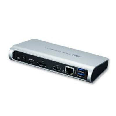 Dynabook USB-C Dock - EU-Versie Docking station - Zwart, Zilver
