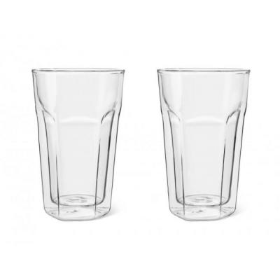 Leopold vienna : Double Walled Glass Latte Macchiato 280ml, set of 2 - Transparant