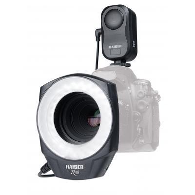 Kaiser fototechnik verlichtingsring: R48 - Zwart, Wit