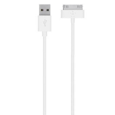 Belkin 30-pin AppleUSB A, 1.2 m Kabel - Wit