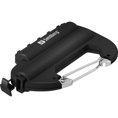 Sandberg powerbank: Carabiner Powerbank IP67 6000 - Zwart
