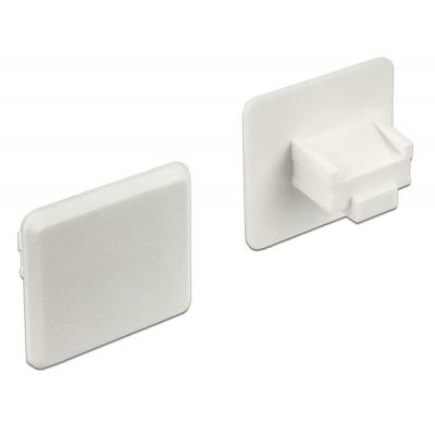 Delock fitting-cove: Dust Cover for RJ45 jack without grip 10 pieces white