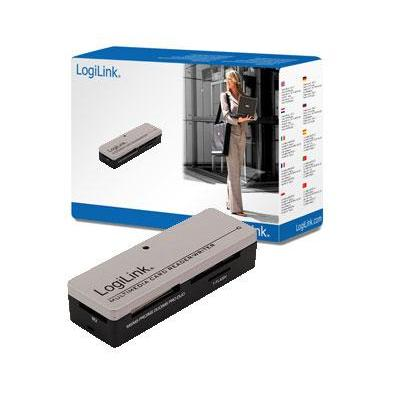LogiLink Cardreader USB 2.0 extern Mini All-in-1 Geheugenkaartlezer - Zwart