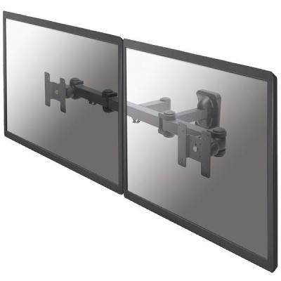 """Newstar montagehaak: De FPMA-W960D is een wandsteun met 3 draaipunten voor twee flat screens t/m 27"""" (69 cm) - Zwart"""