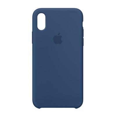 Apple mobile phone case: Siliconenhoesje voor iPhone X - Donker kobalt - Blauw