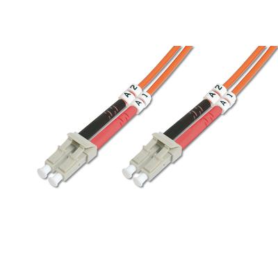 Digitus LC OM4, 1m Fiber optic kabel - Oranje