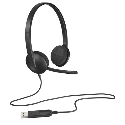 Logitech headset: H340 - Zwart (Open Box)