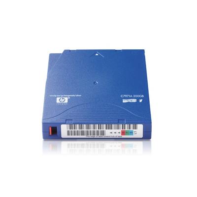 Hewlett Packard Enterprise ultrium 1 200 Gb datacartridge Datatape - Blauw