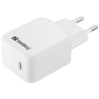 Sandberg USB-C AC Charger PD18W Oplader - Wit