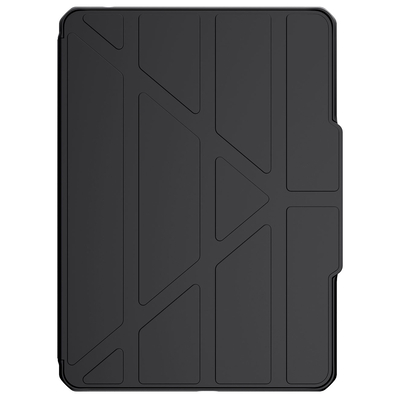 ITSKINS Hybrid Solid Folio Bookcase iPad mini (2019) / Mini 4 -Zwart - Zwart / Black Tablet case