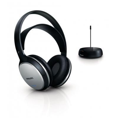 Philips koptelefoon: Draadloze HiFi-hoofdtelefoon SHC5100/10 - Zwart, Zilver