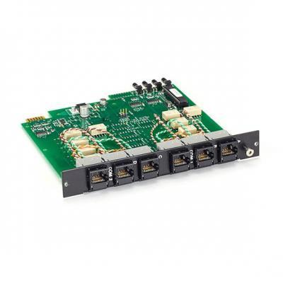 Black Box Pro Switching System Multi Switch Card - RJ-45, CAT6, 4-to-1 Netwerkkaart - Zwart