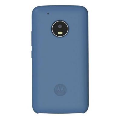 Lenovo mobile phone case: Silicone Back Cover for Moto G5 Plus - Blauw