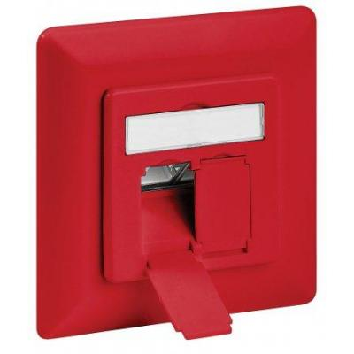Intellinet wandcontactdoos: CAT6A WALL PLATE - Rood