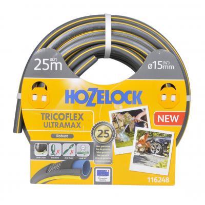Hozelock tuinslang: Tricoflex Ultramax slang Ø 15 mm 25 meter - Grijs, Geel