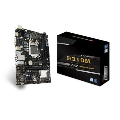 Biostar H310MHP, Intel H310, 2x DDR4, 4x SATA III, 1G LAN, USB 3.1, PS/2, HDMI, VGA, Micro ATX, 226x171 mm .....