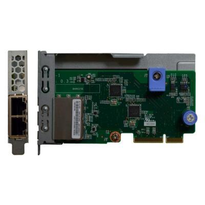 Lenovo netwerkkaart: ThinkSystem 1Gb 2-port RJ45 LOM - Groen, Metallic