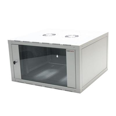"Logilink netwerkchassis: 48.26 cm (19 "") Wallmounted Single-Section Cabinet, 18U, grey - Grijs"