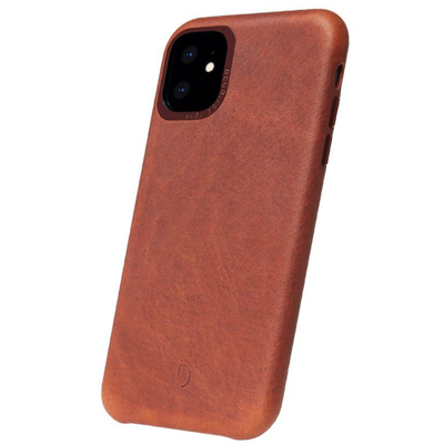 Decoded Leather Backcover iPhone 11 - Bruin - Bruin / Brown Mobile phone case