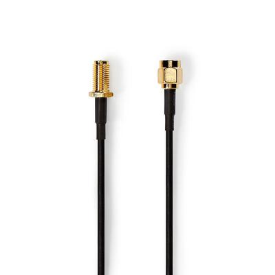 Nedis Antennekabel, SMA Male - SMA Female, 1,0 m, Zwart Coax kabel