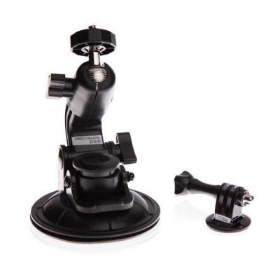 Promounts houder: SuctionCup Mount (Zuignap met Roterende kop) - Zwart