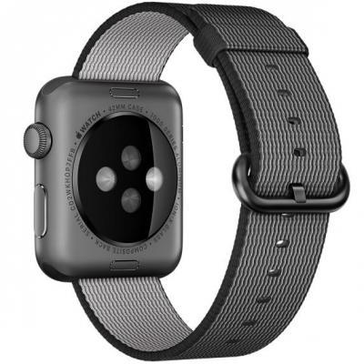 Apple : 42mm Black Woven Nylon - Zwart