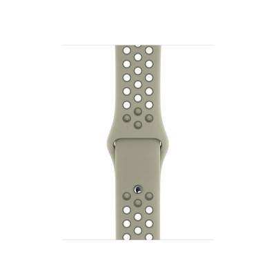Apple 40mm Spruce Fog/Vintage Lichen Nike Sport Band – S/M & M/L horloge-band - Grijs