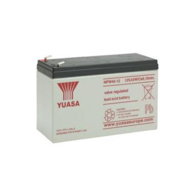 Yuasa UPS batterij: VRLA, 12 V, 45 W, 2.7 kg - Zwart, Wit