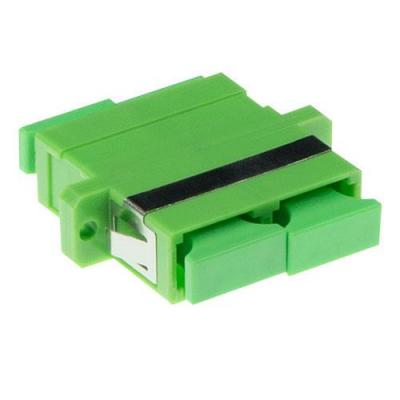 Advanced cable technology fiber optic adapter: Fiber optic SC-APC - SC-APC duplex adapter singlemode OS2 - Groen
