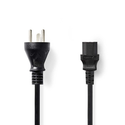 Nedis Voedingskabel, Stekker Type K (DK) - IEC-320-C13, 2,0 m, Zwart Electriciteitssnoer