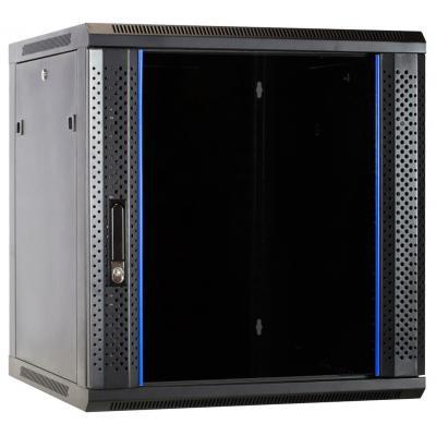 DS-IT 12U wandkast met glazen deur 600x600x635mm (BxDxH) Rack