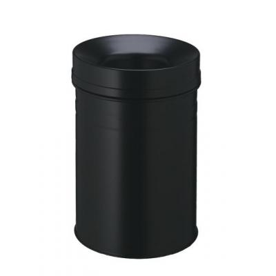 Durable prullenbak: Waste basket Safe+ round 15 - Zwart