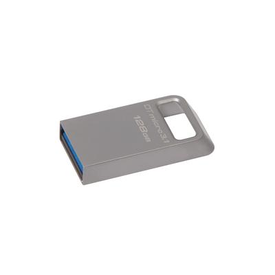 Kingston Technology DataTraveler Micro 3.1 128GB USB flash drive - Metallic