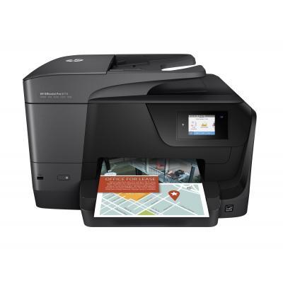 Hp multifunctional: OfficeJet OfficeJet Pro 8715 All-in-One printer - Zwart, Cyaan, Magenta, Geel