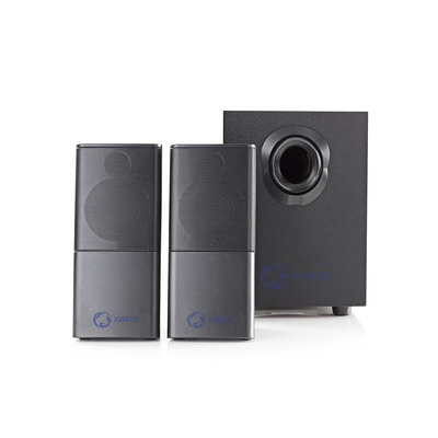 Nedis Gaming Speakers, 2.1, USB powered, 3.5mm jack, 33 W Luidspreker set - Zwart