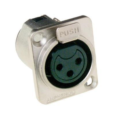Amphenol XLR Female Type D 3P Kabel adapter - Metallic