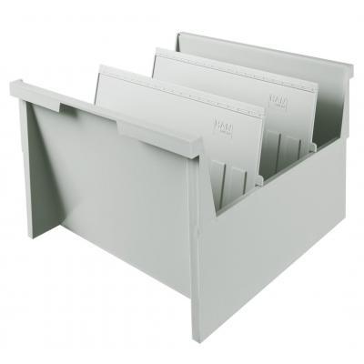 Han kaartenbak: Inhangkaartenbak, A4, lichtgrijs