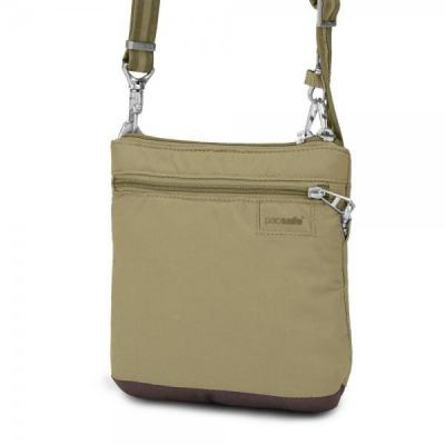 Pacsafe vrouwen-handtas: LS50 - Khaki