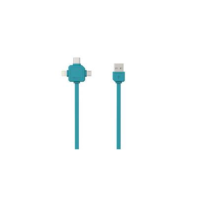 Allocacoc 9003BL/USBC15 USB kabel - Turkoois