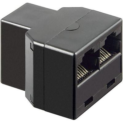 Microconnect RJ45 - 2x RJ45 Netwerk splitter - Zwart