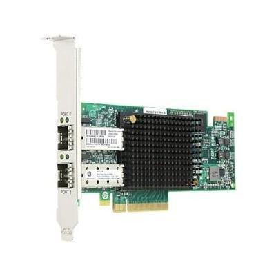 Lenovo netwerkkaart: Emulex 16Gbps Gen 6 FC Dual-Port HBA Adaper for System X Servers - Zwart, Groen, Zilver