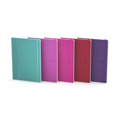 Oxford A5 - Flex Cover - Casebound - 5mm Squares - 160 Pages - SCRIBZEE Compatible - Assorted Bright Colours