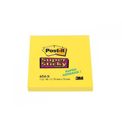 Post-it zelfklevend notitiepapier: Notitieblok Super Sticky 76x76mm gl/pk12