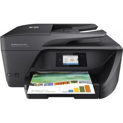 Hp multifunctional: OfficeJet 6960 AiO - Zwart, Cyaan, Magenta, Geel