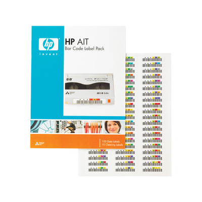Hewlett packard enterprise barcode label: HP AIT Bar Code Label Pack