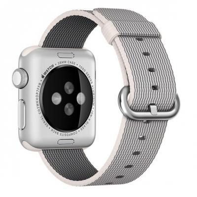 Apple : 38mm Pearl Woven Nylon - Parel