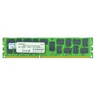 2-power RAM-geheugen: 8GB DDR3 1333MHZ ECC RDIMM 2RX4 - Zwart, Groen