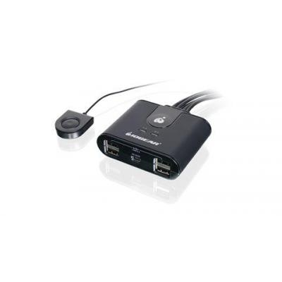 Iogear computer data switch: 4x4 USB 2.0 Peripheral Sharing Switch, 220g
