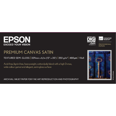 "Epson Premium, 13"" x 6.1m, 350g/m² Fotopapier - Wit"