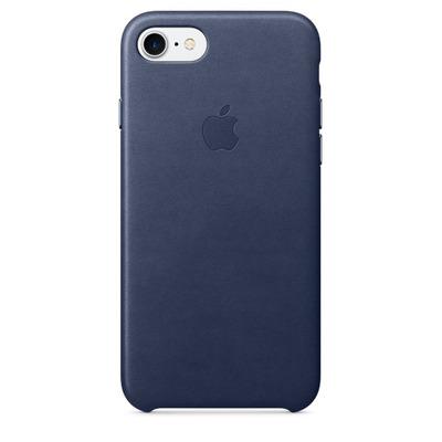 Apple mobile phone case: Leren hoesje voor iPhone 7 - Middernachtblauw